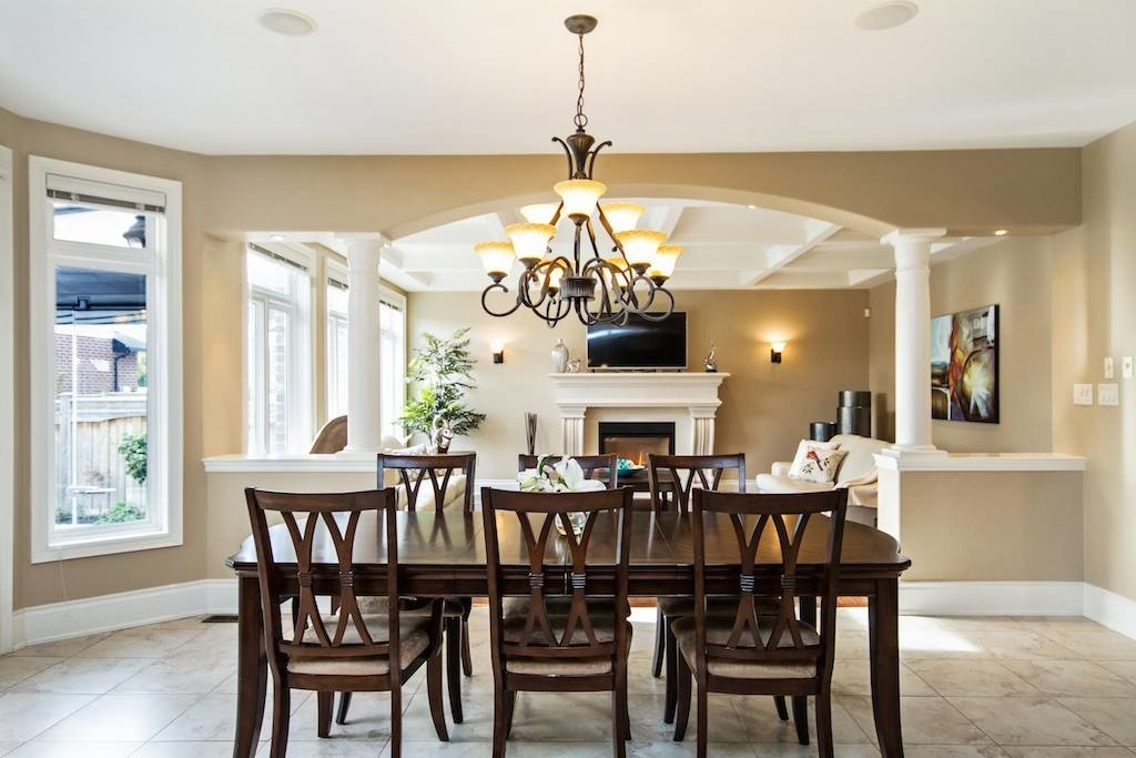 dining room chandelier professionally staged